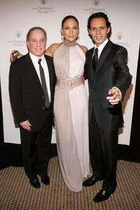 Paul Simon, Jennifer Lopez and Marc Anthony at the 20th Anniversary Children's Health Fund Gala Dinner.