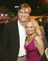 Aaron Sorkin and Kristin Chenoweth at the after party of the premiere of