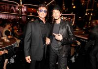 Sylvester Stallone and Adrien Brody at the Spike TV's 4th Annual Guys Choice Awards.