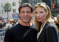 Sylvester Stallone and wife Jennifer Flavin at the unveiling of Mike Medavoy's star on the Hollywood Walk of Fame.