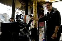 Director Quentin Tarantino on the set of