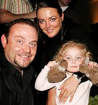 John Thomson, Sam Sharp and Olivia at the after show party of the UK Charity premiere of