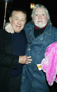 Jack Carter and Marty Ingels at the celebrity opening night for comedian Steve Soloman's one-man show