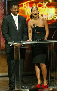Robert Townsend and Tracee Ellis Ross at the 005 Black Movie Awards.