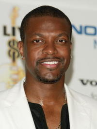 Chris Tucker backstage during