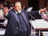 Orson Welles at the French film industry's 'Caesar' award ceremony.