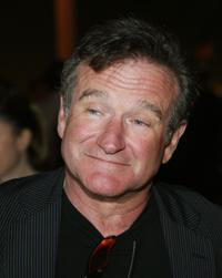 Robin Williams at the afterparty for the premiere of the film