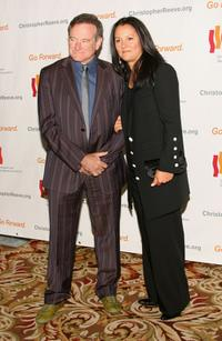 Robin Williams and his wife at the Christopher and Dana Reeve Third Annual Foundation Los Angeles Gala at the Century Plaza.