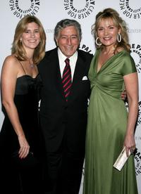 Kim Cattrall, Susan Crow and Tony Bennett at the gala honoring Sumner Redstone presented by The Paley Center For Media at the Waldorf-Astoria Hotel.