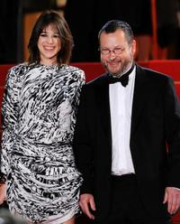 Charlotte Gainsbourg and Lars von Trier at the premiere of