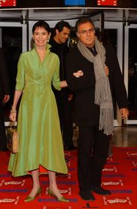 Geraldine Chaplin and her husband at the