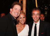 Brendan Fraser, Maria Bello and John Hannah at the premiere of