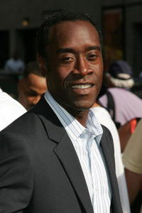 Don Cheadle at Ed Sullivan Theater after a taping of the Late Show with David Letterman in N.Y.