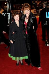 Imelda Staunton and Samantha Bond at the premiere of