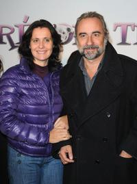 Antoine Dulery and Wife at the premiere of