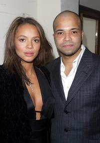Carmen Ejogo and Jeffrey Wright at the HBO's Pre Golden Globes private reception.