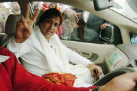 Govinda at the Congress Party campaign rally for the forthcoming state assembly elections.