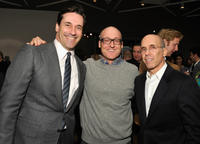 Jon Hamm, Mike Mitchell and Jeffrey Katzenberg at the Motion Picture & Television Fund Presents