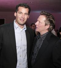 Chris Cooper and Scott Stuber at the after party for the premiere of