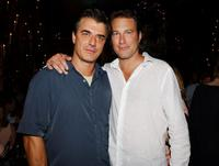 John Corbett and Chris Noth at the party following the New York premiere of