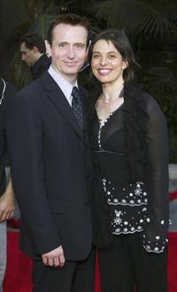 Linus Roache and Guest at the premiere of
