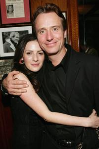 Aleksa Palladino and Linus Roache at the premiere of