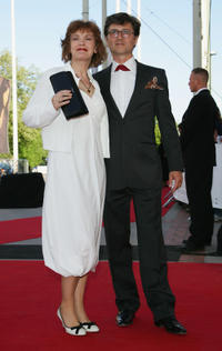 Katrin Sass and Volker Ranisch at the German Film Awards.