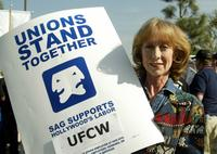 Ellen Crawford at the UFCW Picket Lines.