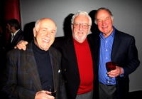 Clive Swift, Bernard Cribbins and Geoffrey Palmer at the screening of