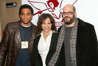 Michael Ealy, Rosie Perez and David Cross at the after party of the 6th Annual 24 Hour Plays On Broadway.