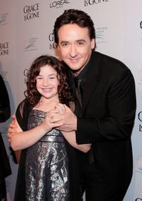 John Cusack and Gracie Bednarczyk at the premiere of