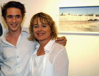 Sinead Cusack and Jeremy Irons at an exhibition of photographs of the security wall between Israel and Palestine.