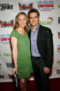 Henry Czerny and his wife Claudine Czerny at the CineVegas film festival.