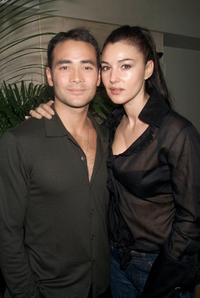 Mark Dacascos and Monica Bellucci at the private reception with the cast of