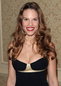 Hilary Swank at the New York Film Critics Dinner in New York City.