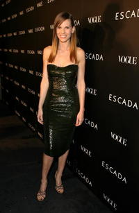 Hilary Swank at the ESCADA Grand-Reopening event in Beverly Hills.