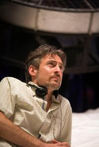 Director Eric Brevig on the set of