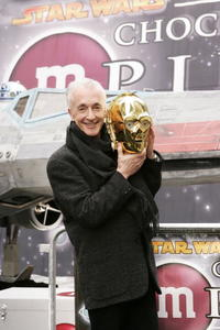 Anthony Daniels at the unveiling of the new M&M Star Wars candy.