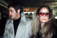Ursula Andress and Jean-Paul Belmondo at the Orly airport.