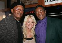 Keith David, Samuel L. Jackson and Tara Reid at the 'The Last Mimzy' NewLine Cinema 40th Anniversary dinner and cocktail party.