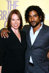 Naveen Andrews and Barbara Hershey at the premiere of
