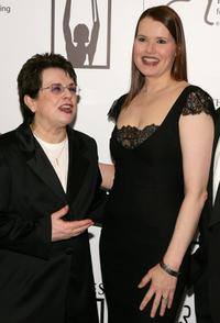 Geena Davis and Former tennis player Billie Jean King at The Billies presented by The Women's Sports Foundation.