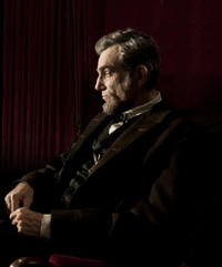 Daniel Day Lewis as president Abraham Lincoln in