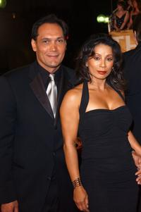 Jimmy Smits and Wanda De Jesus at the 29th Annual People's Choice Awards.