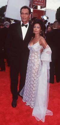 Jimmy Smits and Wanda De Jesus at the 49th Emmy Awards.