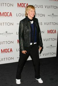 Ellen DeGeneres at the Murakami Gala at MOCA hosted with Louis Vuitton event honoring fashion designer Marc Jacobs.