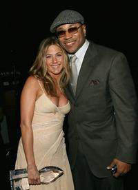 Jennifer Aniston and LL Cool J at the 33rd Annual People's Choice Awards.