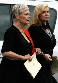 Judi Dench and Westminster Abbey at the Duke of Edinburgh's 60th Diamond Wedding Anniversary.