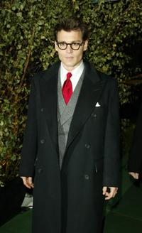 Johnny Depp at the afterparty following the premiere of