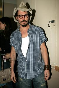 Johnny Depp at the 18th Annual Kids Choice Awards.